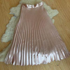 Chicwish Metallic Pleated Midi/Maxi Skirt